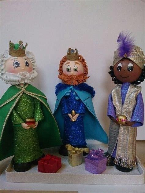 patrones de reyes magos para hacer en foami fofuchos reyes magos fofuchas pinterest