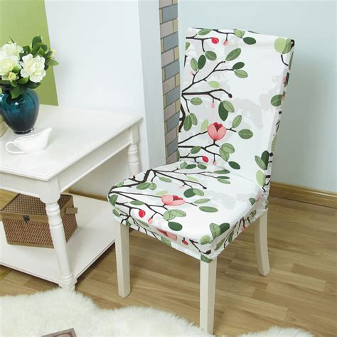 floral printing anti dirty stretch chair covers elastic chair protector slipcover dinning room
