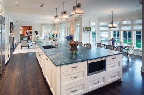 huge kitchen island hi tech kitchen with large island
