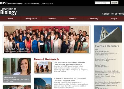Iupui Computer Science Mba Program by Masters Program Iupui Biology Masters Program