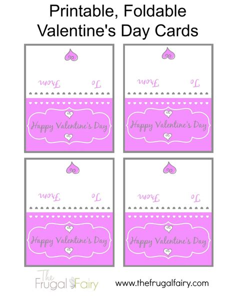 printable thank you valentine cards 5 best images of free printable foldable cards foldable