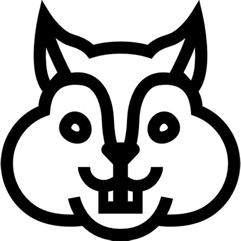 squirrel face coloring page squirrel face frontal outline free animals icons
