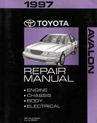 free online auto service manuals 1998 toyota avalon spare parts catalogs 1997 toyota avalon factory service manual