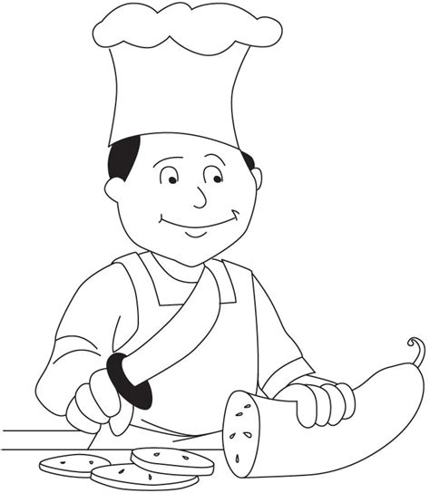 Chef Coloring Page chefs colouring pages sketch coloring page