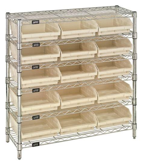 chrome wire shelving plastic shelf bin package wr