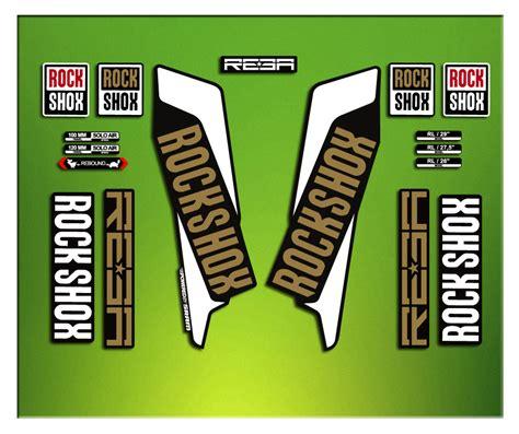 Rock Shox Aufkleber Gold by Fork Stickers Rock Shox Reba 2016 Elx23 Stickers Aufkleber