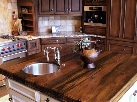 Installing Kitchen Island Spalted Pecan Wood Countertop Photo Gallery By Devos