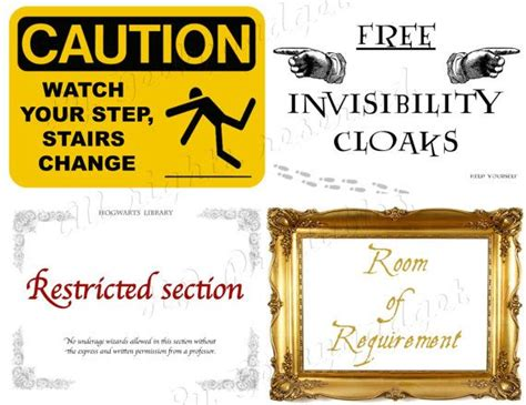 the restricted section harry potter set of 15 hp printables harry potter ministry of magic