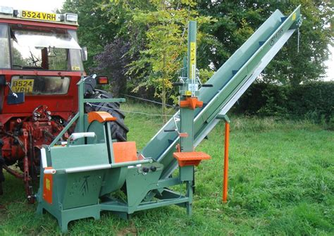 logging saw bench ryetec saw bench with conveyor davies implements