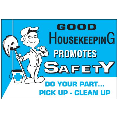 housekeeping workplace safety wallchart notice sign