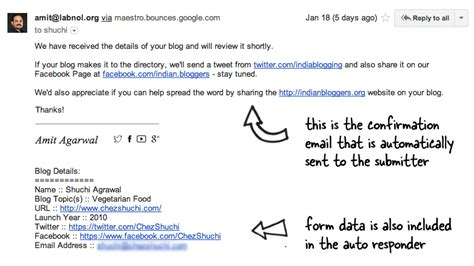 format email reply google forms autoresponder how to send confirmation