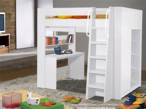 High Bed With Wardrobe And Desk by Details About High Sleeper Bed With Desk Storage