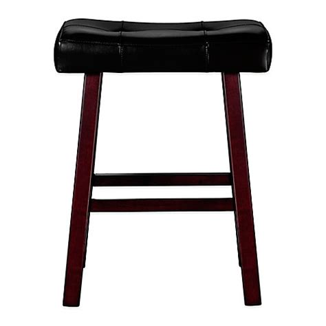 24 Inch Padded Saddle Bar Stools by Buy Ersand 174 24 Inch Padded Saddle Stool From Bed Bath