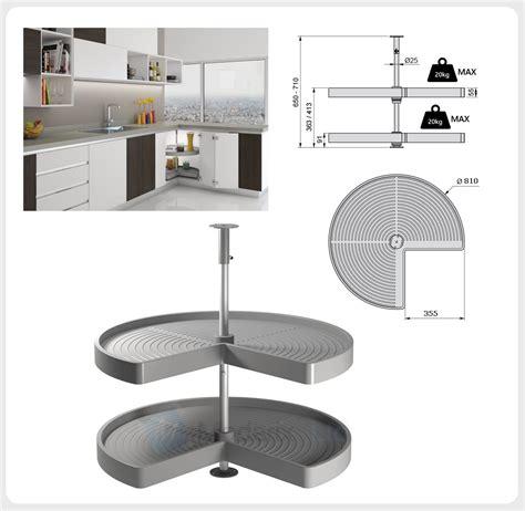 kitchen corner unit carousel circle 3 4 set 216 710 or 216 810mm