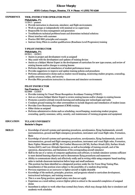 lovely certified flight instructor resume pictures