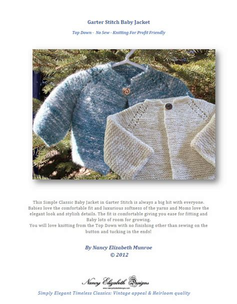 free garter stitch baby knitting patterns top garter stitch baby jacket pattern