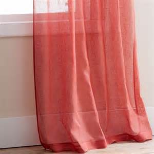 Sheer Coral Curtains Coral Sheer Curtain Panels Curtains