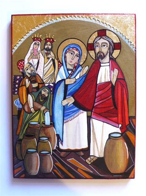 Bible Wedding At Canaan by Wedding At Cana Icon By Rania Kuhn Jesus At The Wedding