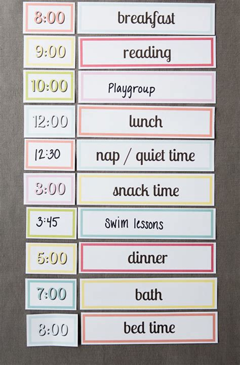 printable schedule for toddlers free printable setting up a simple routine with kids