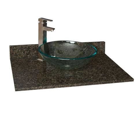 Vanity Tops With Sinks 31 Quot X 22 Quot Granite Vessel Sink Vanity Top Vanity Tops