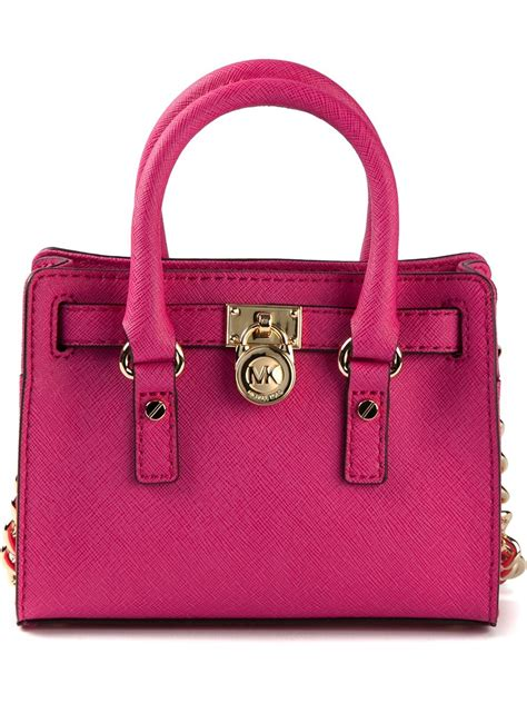 Mini Ion Massenger Refleksasi Pink lyst michael michael kors mini hamilton messenger bag in pink