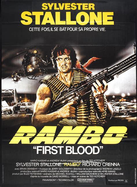 rambo first film rambo first blood film poster movie night pinterest