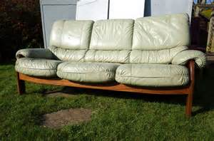 Light Green Leather Sofa by Vintage G Plan Leather Sofa Light Green Ebay