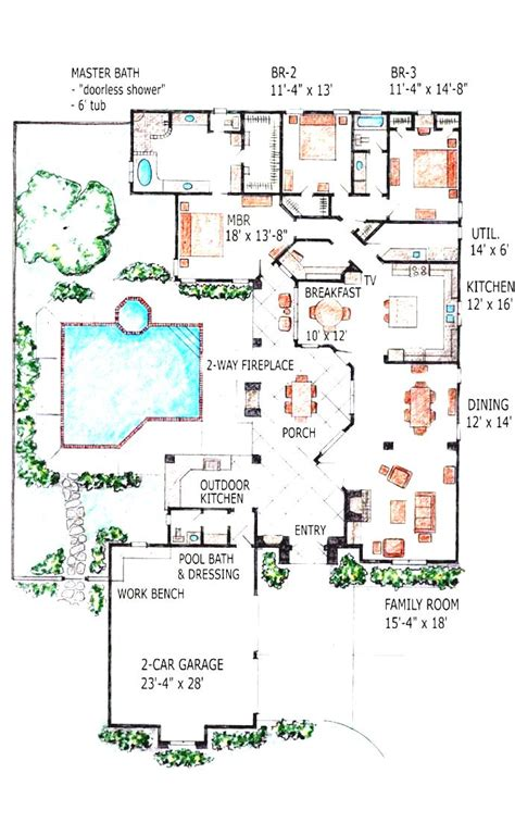 house plans with indoor swimming pool officialkod