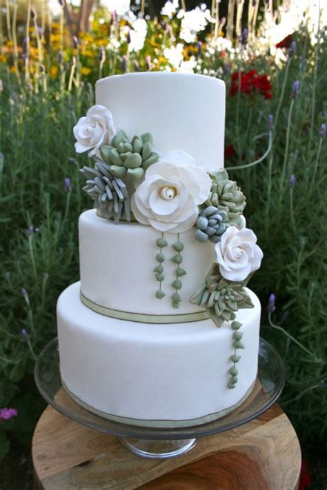 Wedding Cake With Succulents by The 2015 Wedding Trend 42 Succulent Wedding Cakes