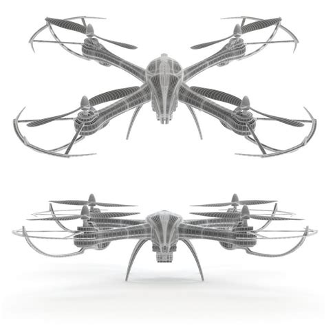 Drone Tarantula X6 drone jjrc tarantula x6 3d model max obj 3ds fbx mat cgtrader