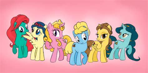 Set Disney Pony disney princess ponies by aldriona on deviantart