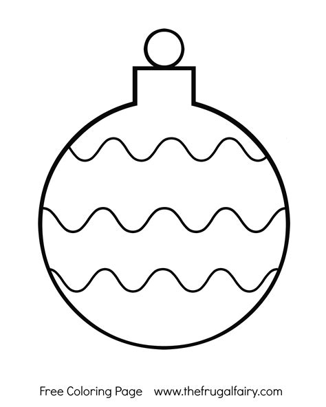 printable christmas tree ornaments coloring pages