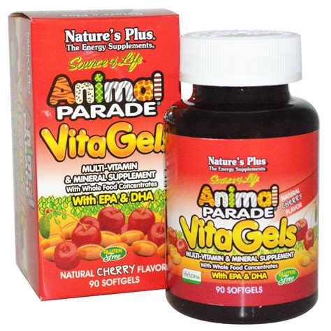 Vitamin Animal Parade Nature S Plus Source Of Animal Parade Vitagels