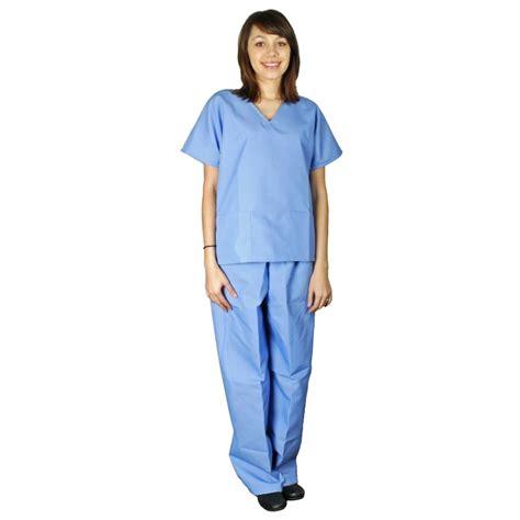 desco 17021 heavyweight esd scrubs pants blue small