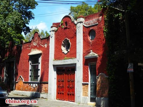 china house anderson in coyoac 225 n a historical town in mexico city china org cn