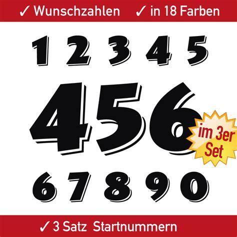 Startnummer Aufkleber Auto by 3x3 Zahlen Racing Motorrad Startnummern Aufkleber Auto