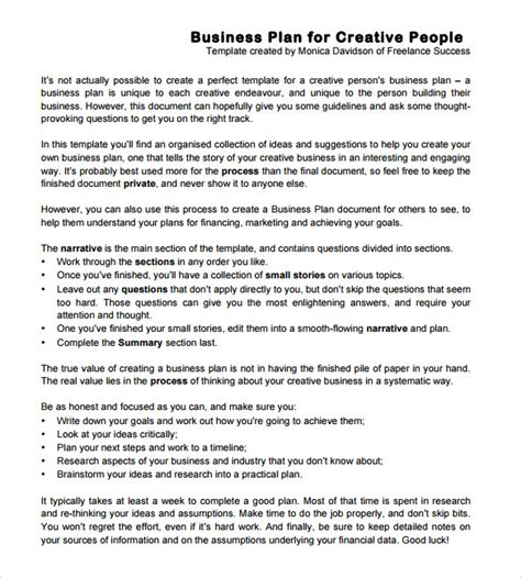 Business Action Plan Templates 8 Sles Exles Format Sle Templates Creative Business Plan Template