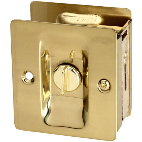 shop stanley national hardware pocket door latch brass at