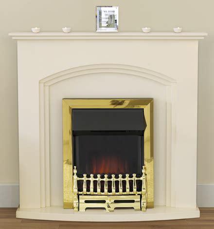 adam truro ivory fireplace with adam ribbon brass electric