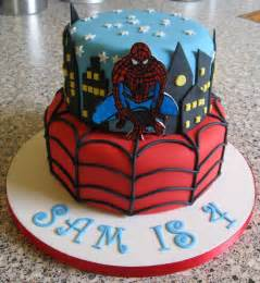 spider man birthday cakes cake pictures
