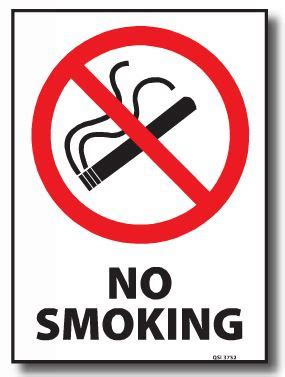 no smoking sign with stand no smoking sign signs stands traffic management