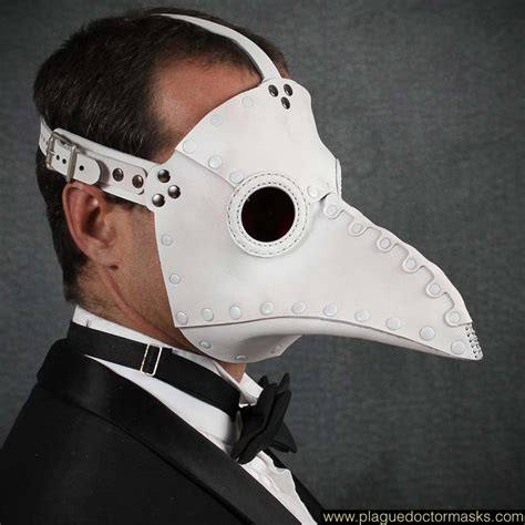 How To Make A Plague Doctor Mask With Paper Mache - plague doctor mask white leather plague doctor masks