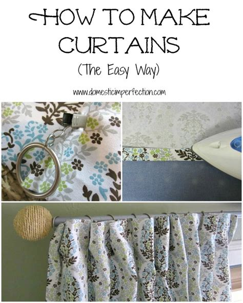 how to make basic curtains how to make curtains domestic imperfection