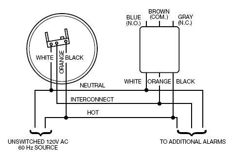 brk electronics alert rm3 120v ac hardwired smart relay