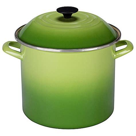 creuset pot buy le creuset 174 10 qt stock pot in palm from bed bath