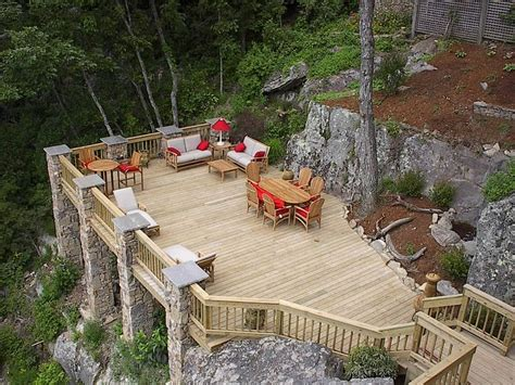 Sloped Backyard Deck Ideas Deck Idea With Sloped Yard Exterior Pinterest Gardens Lakes And Decks