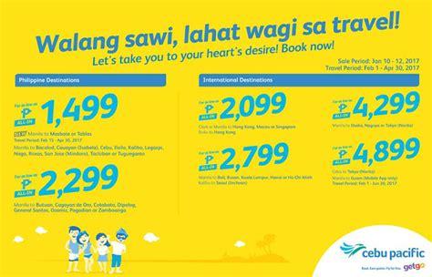 piso fare cebu pacific cebu pacific promo 2017 manila to riyadh piso fare promo
