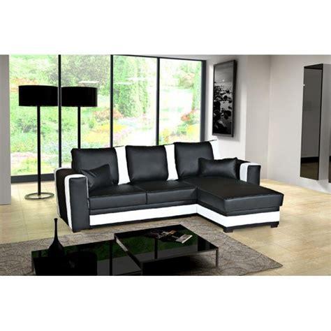 canape angle noir et blanc photos canap 233 d angle convertible noir et blanc