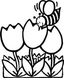 coloring pages to print out print out pictures coloring pages bee with tulips