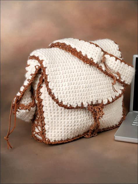 Free Pattern Crochet Laptop Bag | crochet crochet handbag patterns messenger laptop bag